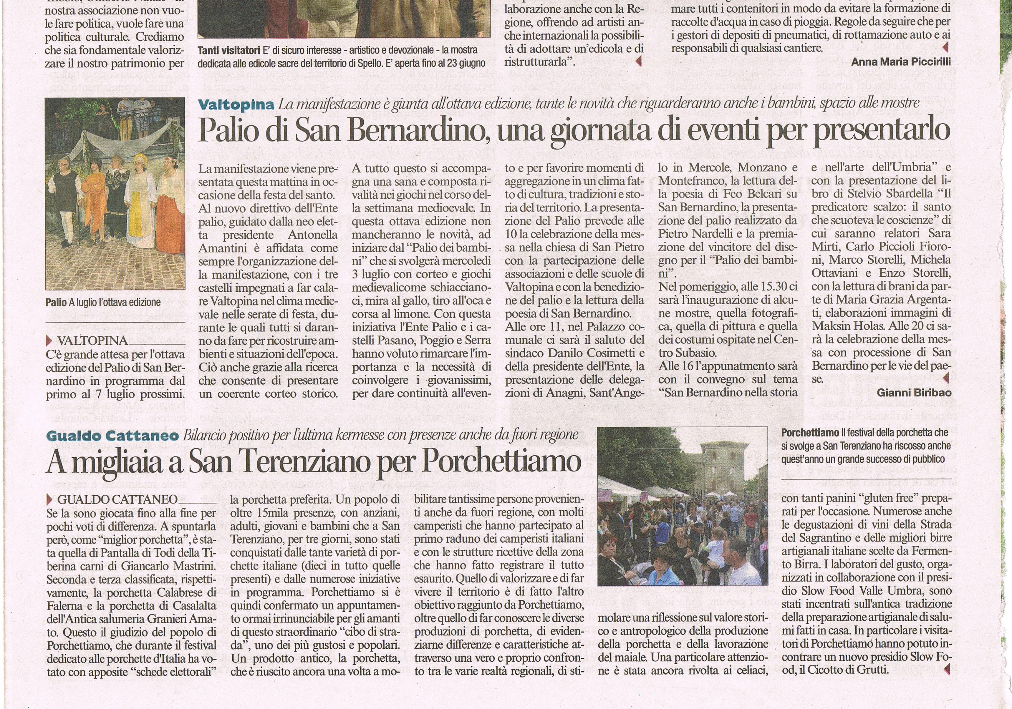 Corriere dell'Umbria 2013